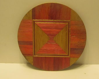 Bamboo Plate Holder or Wall decor