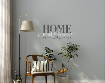 Home Sweet Home Wall Decal Vinyl Lettering - Family Vinyl Wall Decal  - Wall Art - Wall Decor