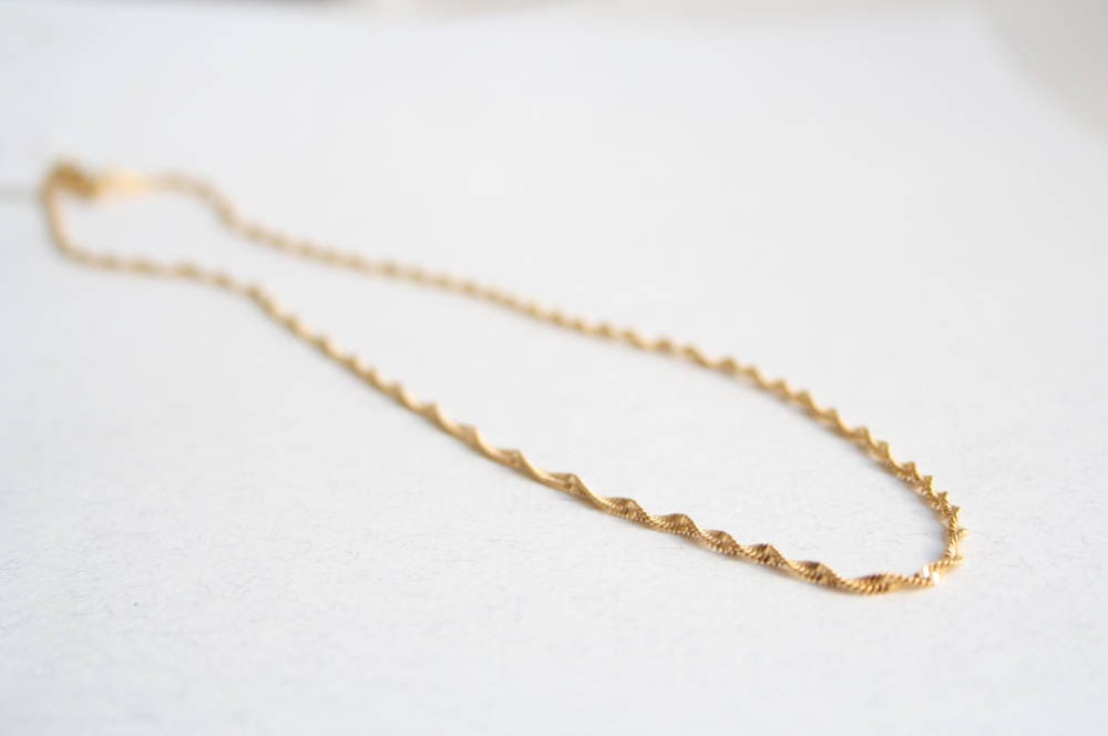 Everyday gold necklace Simple gold necklace Simple gold