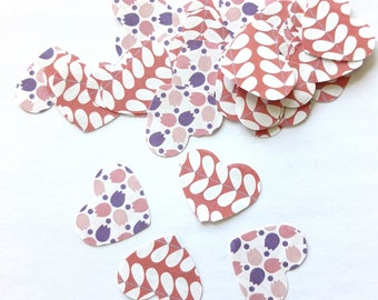 35 fancy pink and white origami paper hearts