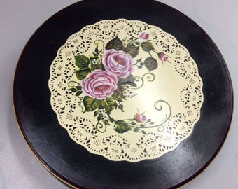 Chocolate Box Decorated with Lace and Roses