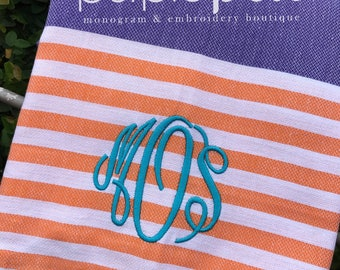 Monogrammed Beach Towel, Turkish, Monogrammed Towel, Beach Towel, Graduation, Turkish Towel, Bridesmaid Gifts, Bridal Party
