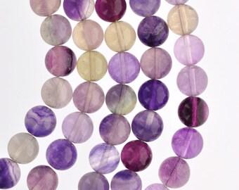 8mm Round FLUORITE Beads, natural gemstone, full strand gfl0003