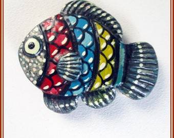 Handmade fish brooch, goldfish for jacket, handmade brooch, brooch pin, wedding gift, gift for her, lover of animals, gifts for woman