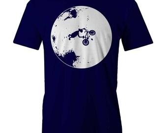 ET BMX Bike Trick T-shirt Moon 80s Retro Vintage T-shirt
