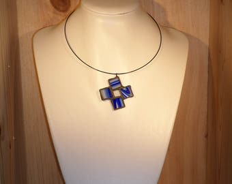 PENDANT - stained-glass cross