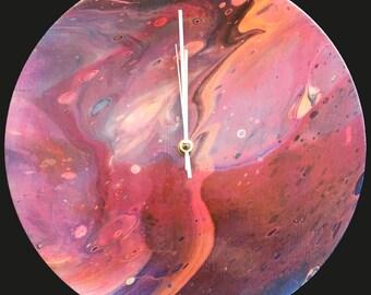 Acrylic 30 cm Wall Clock / Handmade /Unique Designs #12