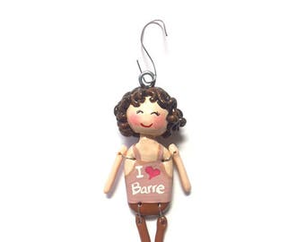 I Love Barre Collection:  Molly (Ornament)  - CAN BE PERSONALIZED w/ Add-On Option