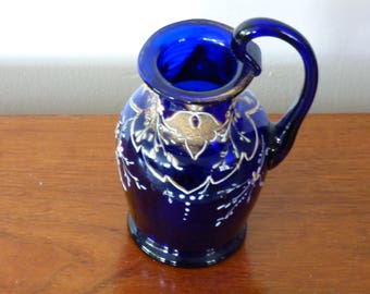 Bristol Blue Glass Jug