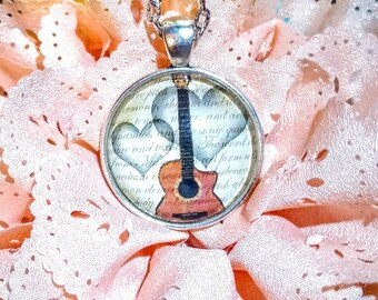 Guitar Music Pendant Necklace