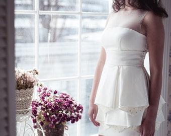 BLACK FRIDAY Short wedding dress M26, Romantic wedding gown, Classic bridal dress, Custom dress, Rustic gown