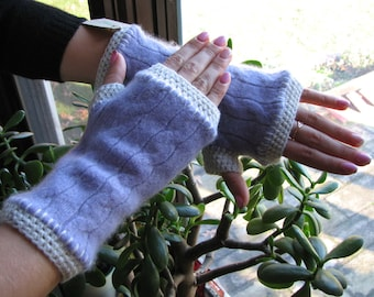 Cashmere arm warmers - wrist warmers - fingerless gloves - typing gloves