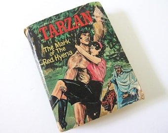 Vintage Tarzan and the Red Hyena, a Big Little Book