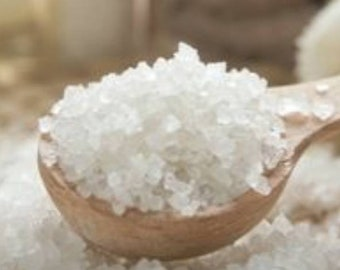 Herbal bath salts, calming and pain relieving, all natural ingredients