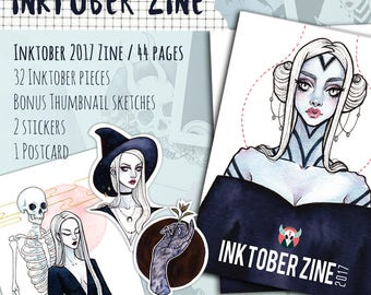 Inktober 2017 ZINE | art zine, illustration book, booklet