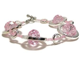 Womens Beadwork Bracelet, Beaded Bracelet, Statement Bracelet, Womens Jewelry, Silver Bracelet, Womens Bracelet, Bead Jewelry, Gift Under 25