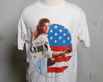 Vintage 90's Billy Ray Cyrus Achy Breaky Heart Concert Tour T Shirt Soft! XL