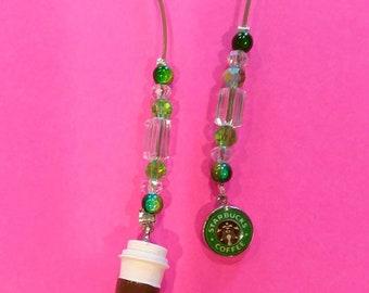 Starbucks Bookmark- Green & Crystals