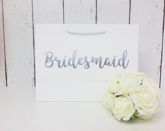 Bridesmaid Gift Bag | Bridesmaid Bag | Personalised Bridesmaid Bag | Wedding Gift Bag | Boutique Bag | Thank You  Bridesmaid |Will You Be My