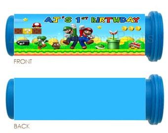 Super Mario Bros Mini M&M Tube Wrappers DIY Printable