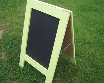 A-frame sidewalk chalkboard sandwich chalkboard  Key lime green a frame chalk board  Outdoor outside framed doublesided chalkboard farmhouse