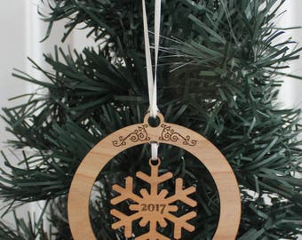 Personalized Ornament - Baby's First Christmas (Filigree)
