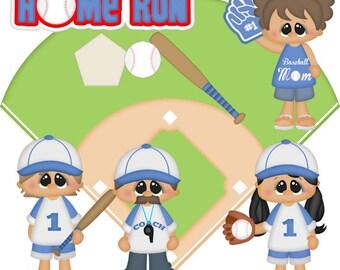 Home Run Clip Art-Instant Download-Digital Clipart