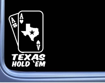 Texas Hold em cards M356 6 inch Sticker Decal poker playing