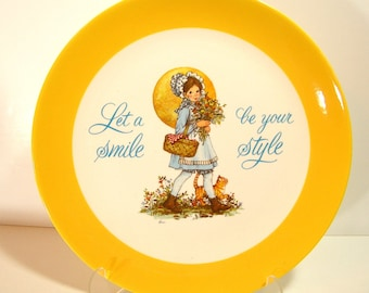 Dear Hearts Vintage Keepsake Plate, 1973, Let A Smile Be Your Style