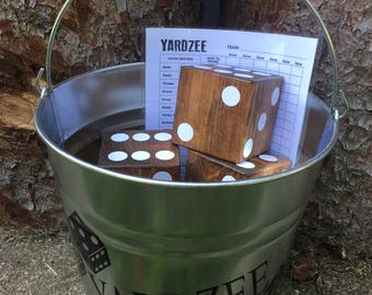 Yardzee |Yard Game | Summer Game | Outdoor Game | Lawn Dice | Backyard Game | Wedding Gift | Father's Day Gift | Yard Game | Group Game