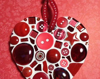 Fun Lily Mosaics D.I.Y. Mosaic Red Heart Valentines Kit (for adults and children)