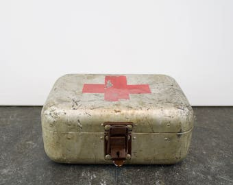 Vintage Hungarian first aid chest
