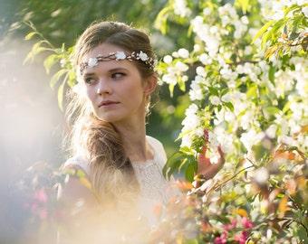 Bridal Hair Accessories, Bridal Flower Crown, Bridal Headband, Floral Crown, Flower Girl Hair Wreath, Weddings, Wedding Headband