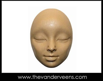 Mold No.217 (Face - High cheekbones with closed eyes) by Veronica Jeong