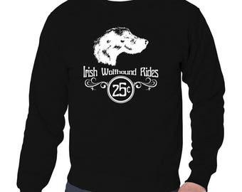 Irish Wolfhound Rides Sweatshirt