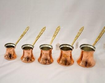 Handmade Copper Coffee Maker, Cezve, Turkish Coffee Maker, Espresso, Copper Cookware