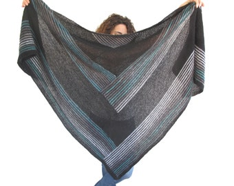 NEW! Oversize Mohair Triangle Shawl by Afra