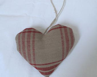 Heart hanging linen natural campaign