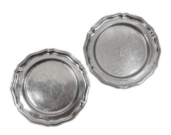 Vintage Metal Dinner Plates by Wilton Vintage Pewter Style Colonial Plates Cosplay Pewter Style Plate Set  sc 1 st  Etsy & Metal dinner plate   Etsy