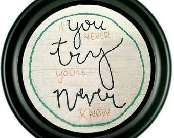 Beginners Motivational Embroidery Kit