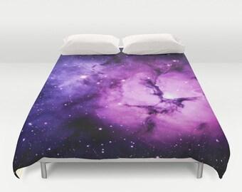 Violet Space Duvet Cover King Size Bed cover King Duvet Queen Duvet Full Duvet Twin Duvet Nebula Duvet Stars Duvet Cover Lilac Nebula 88x88