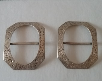 Sterling Silver Buckles Antique