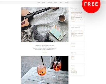 Free - Monza A WordPress Blog Theme - Responsive WordPress Theme - WordPress Blog Theme - Feminine Wordpress Theme  - Blog Template