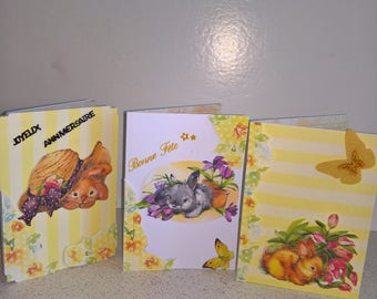 Set of 3 small cards Garland