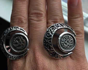 Authenric Egyptian Moon ring
