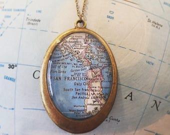 San Francisco Map Necklace Travelust