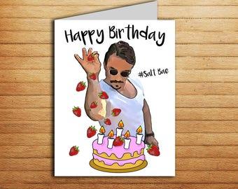Funny Memes For Boyfriend : Salt bae love card printable funny anniversary card for