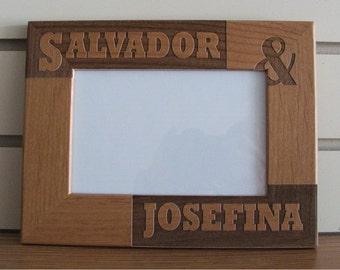laser engraved picture frame
