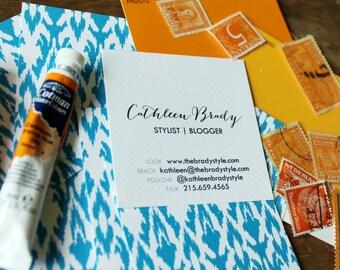 Ikat  Calling Cards / Business Cards/ Blogger Cards - Set (50)