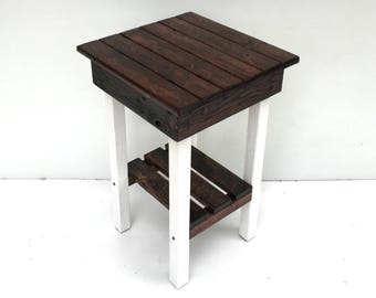 End Table/Night Stand/Rustic Table/Vintage Side Table/Rustic Bedside Table/Handmade Reclaimed Table/Custom/New Materials/Farmhouse End Table